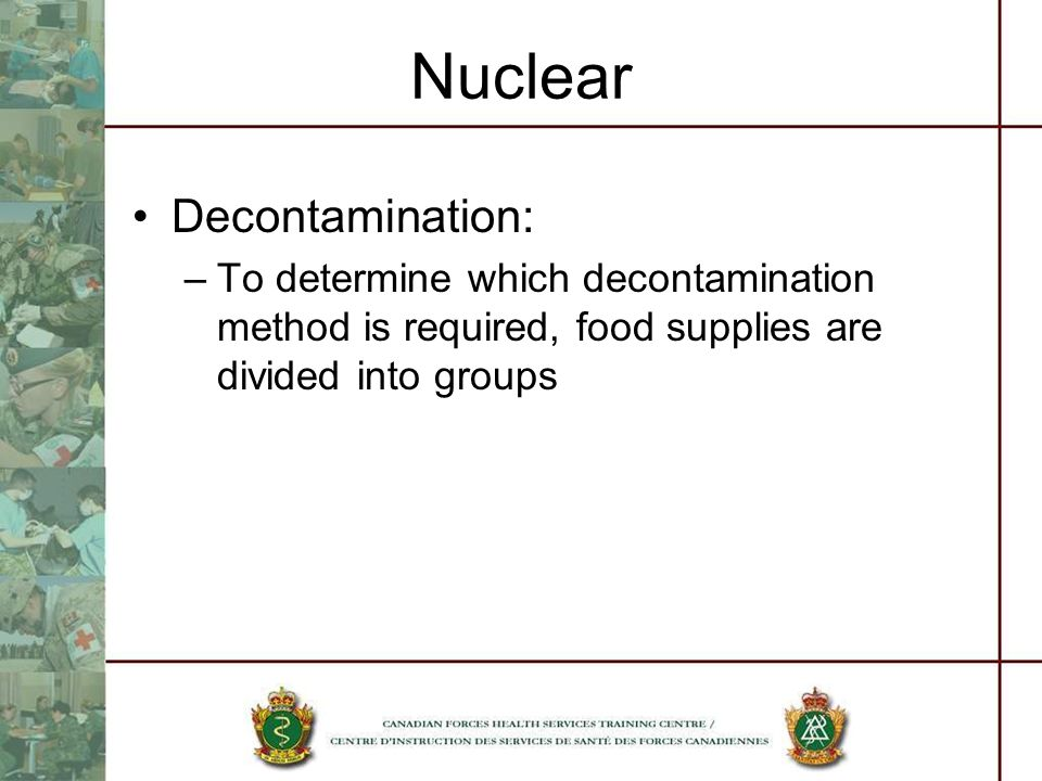Nuclear Decontamination: