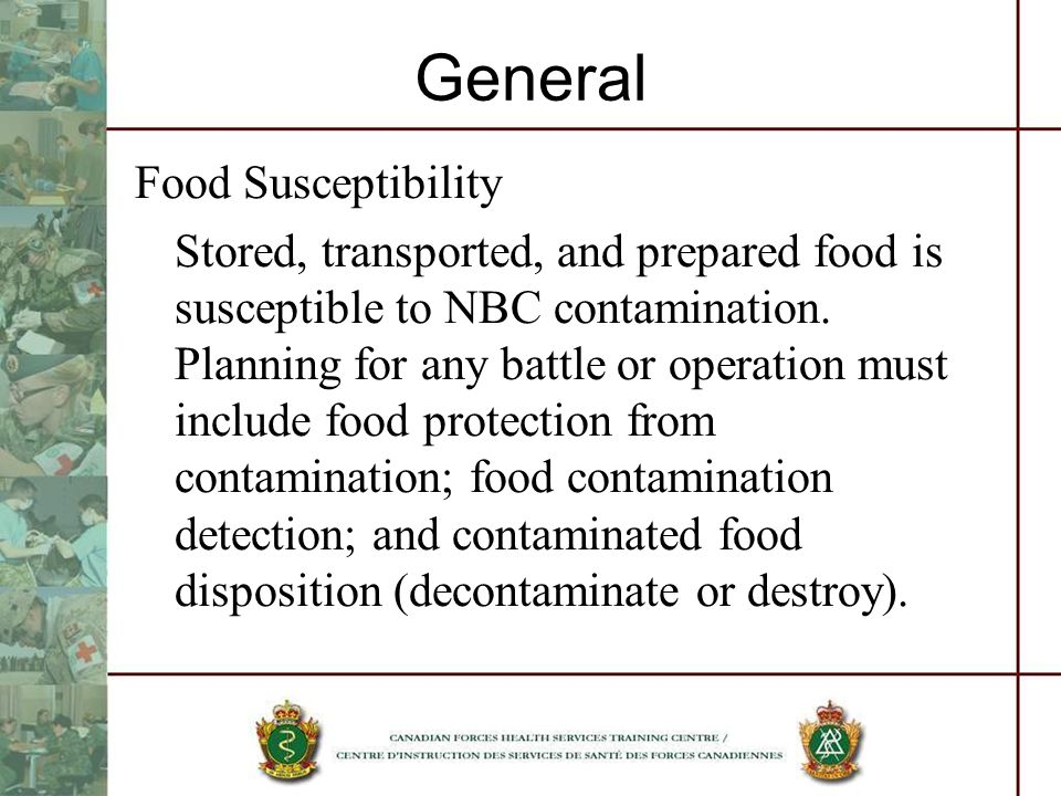 General Food Susceptibility