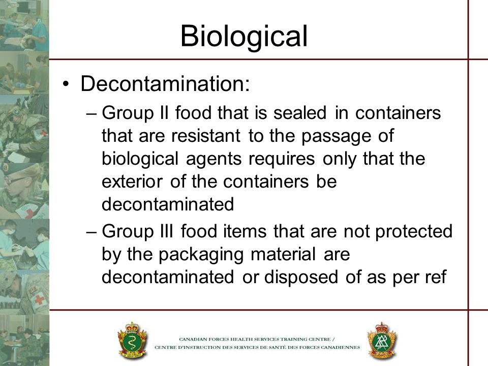 Biological Decontamination: