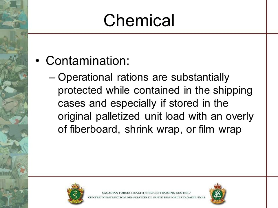 Chemical Contamination: