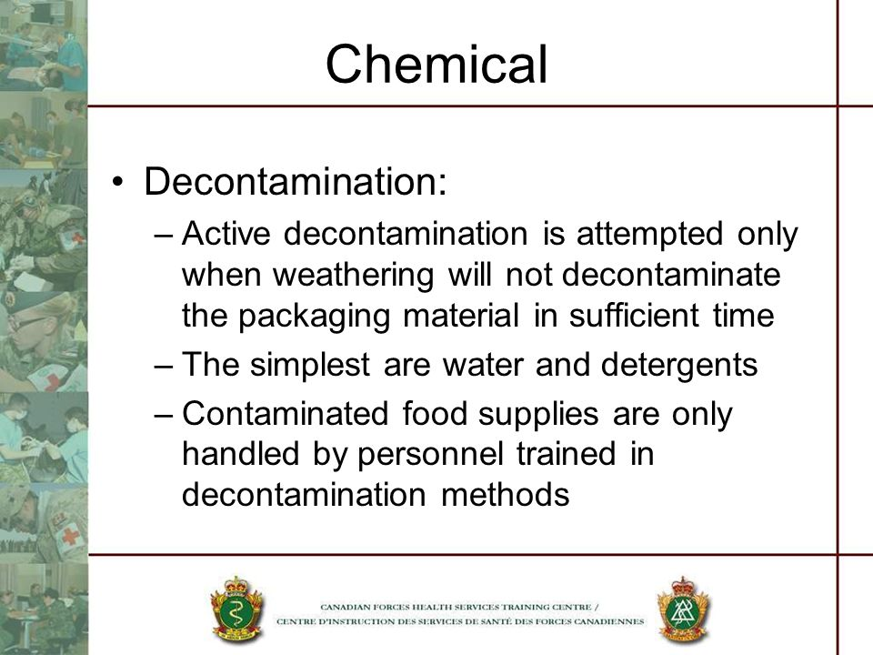 Chemical Decontamination: