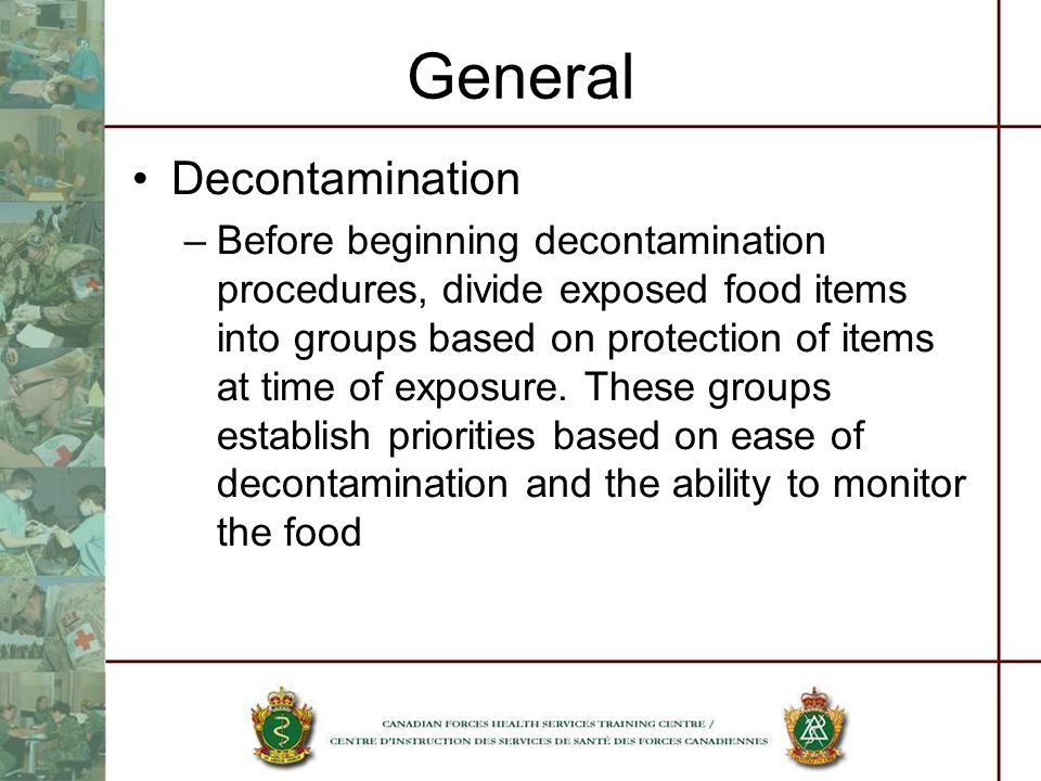 General Decontamination
