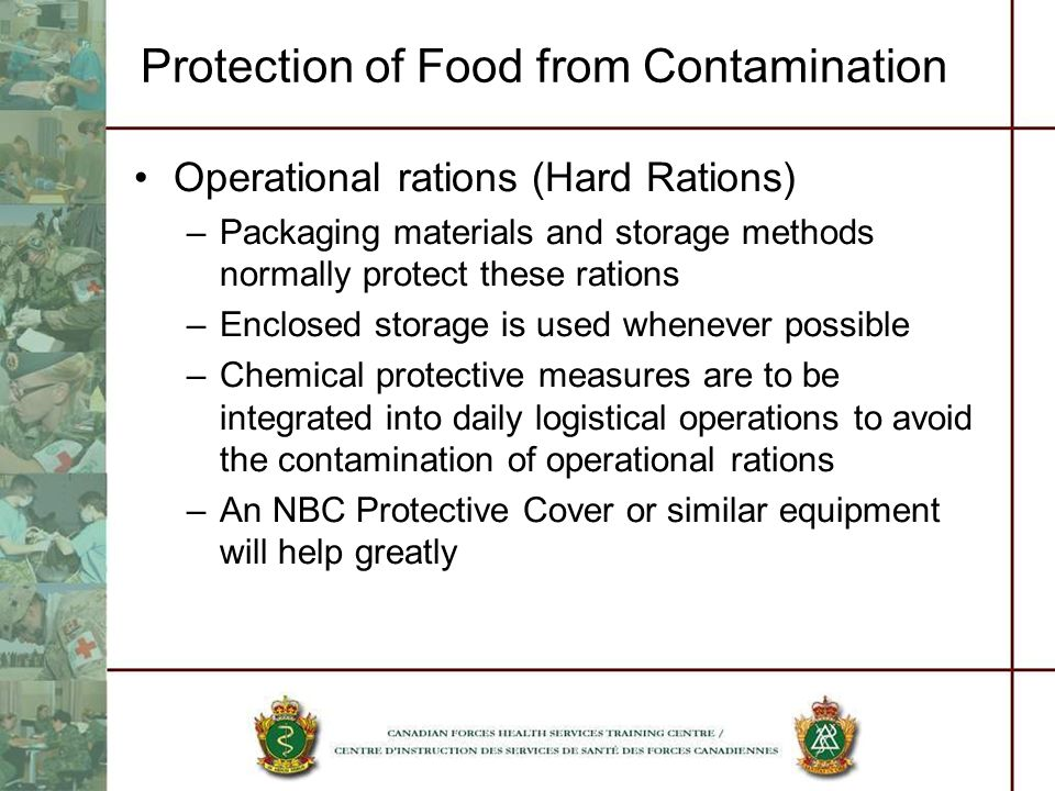Protection of Food from Contamination