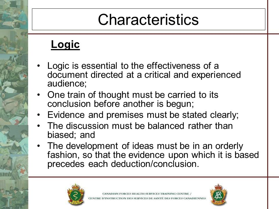 Characteristics Logic