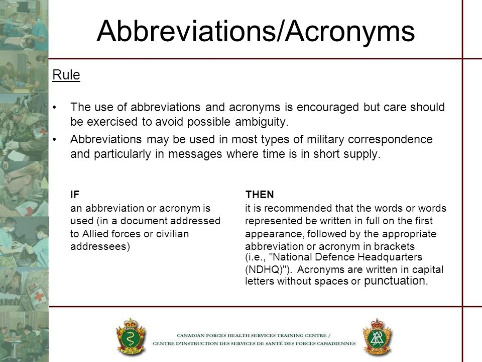 Abbreviations/Acronyms
