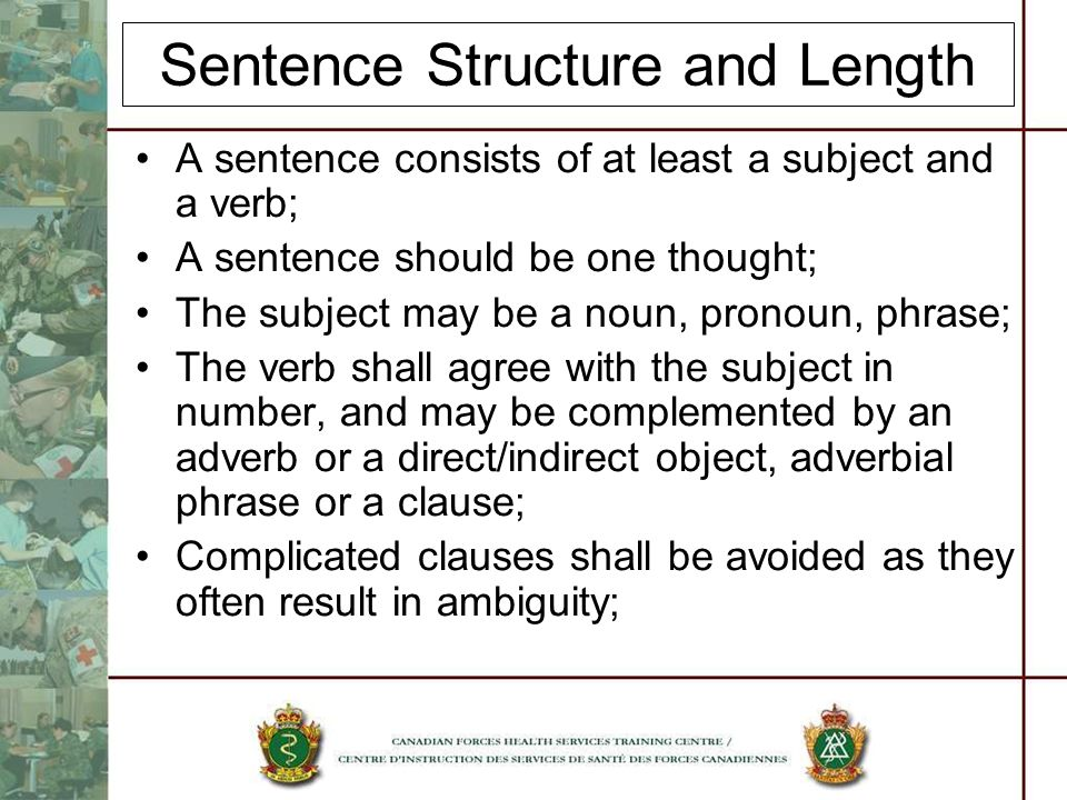 Sentence Structure and Length
