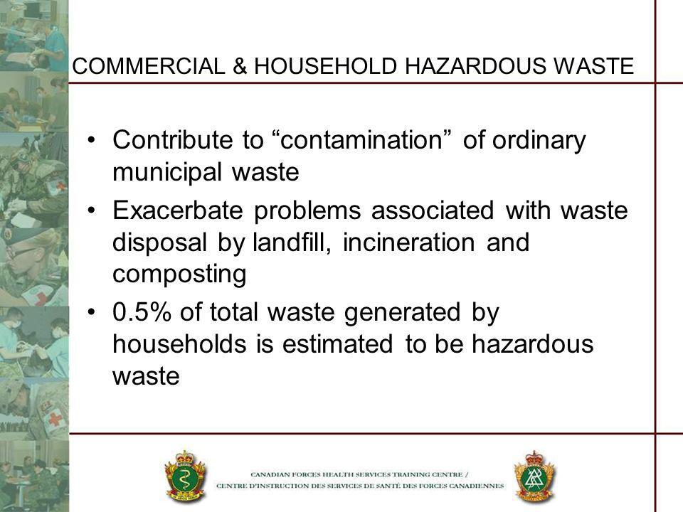 COMMERCIAL & HOUSEHOLD HAZARDOUS WASTE