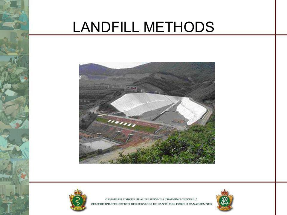 LANDFILL METHODS This is a photo of a landfill in China that is using the valley method.