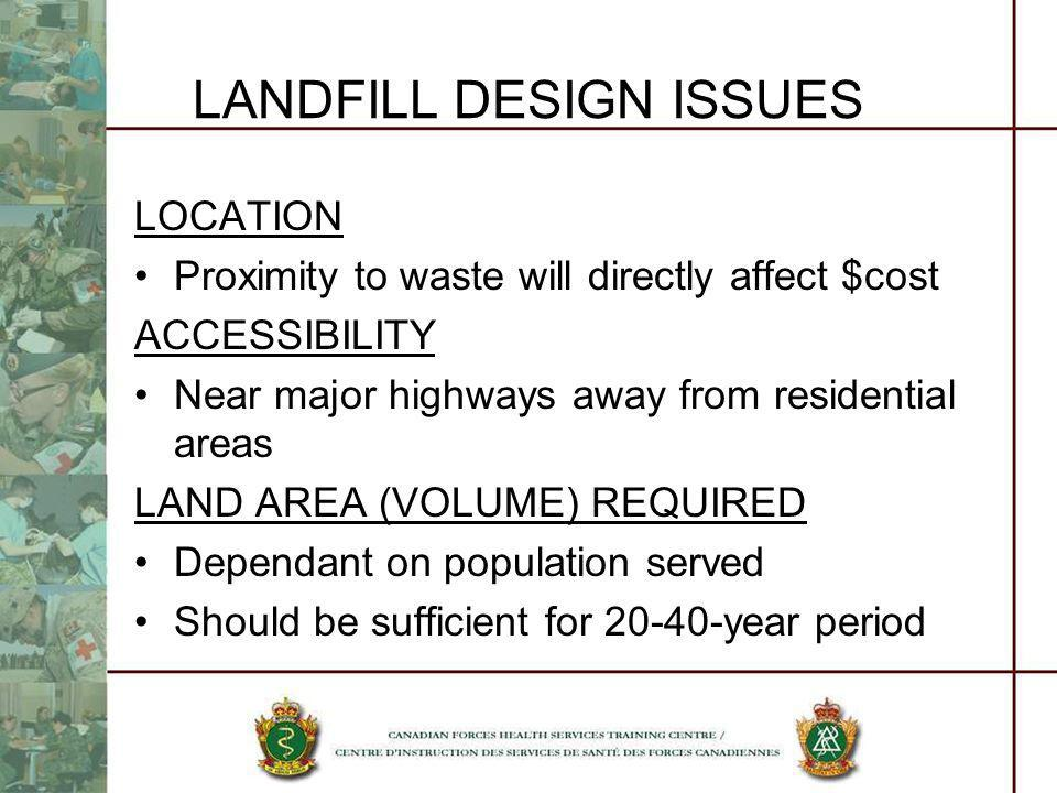 LANDFILL DESIGN ISSUES
