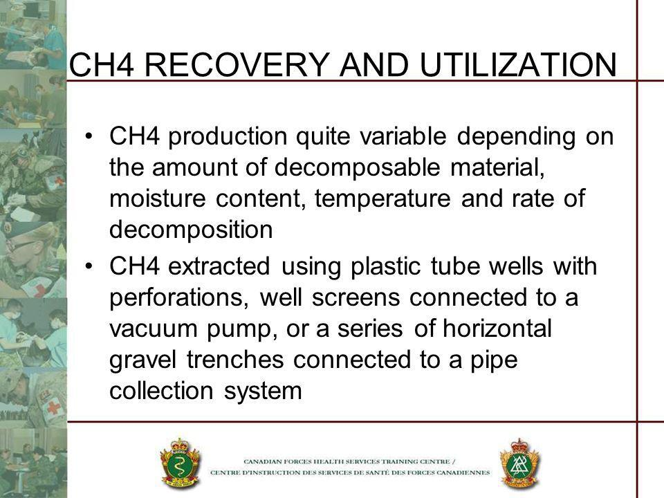 CH4 RECOVERY AND UTILIZATION