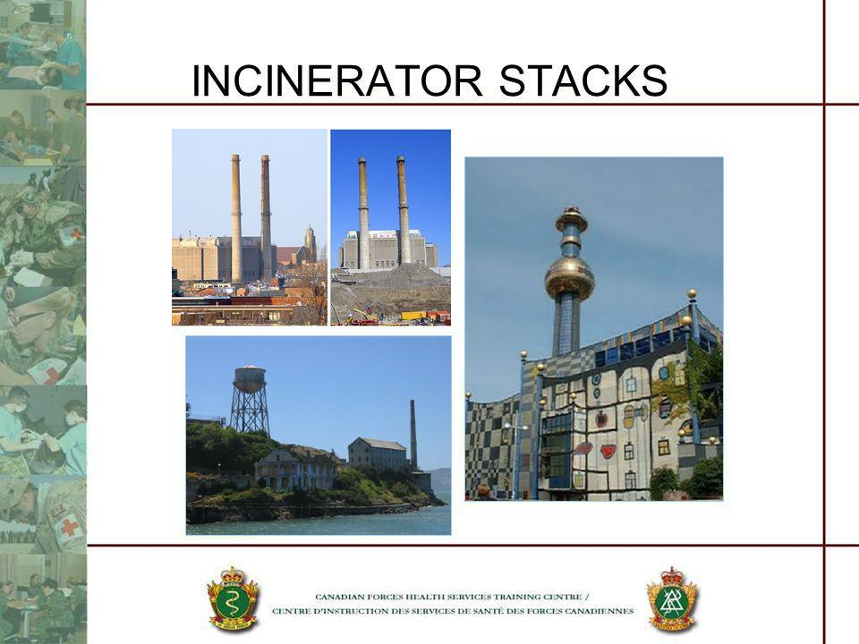 INCINERATOR STACKS Does anyone recognize these incinerators and their signature stacks