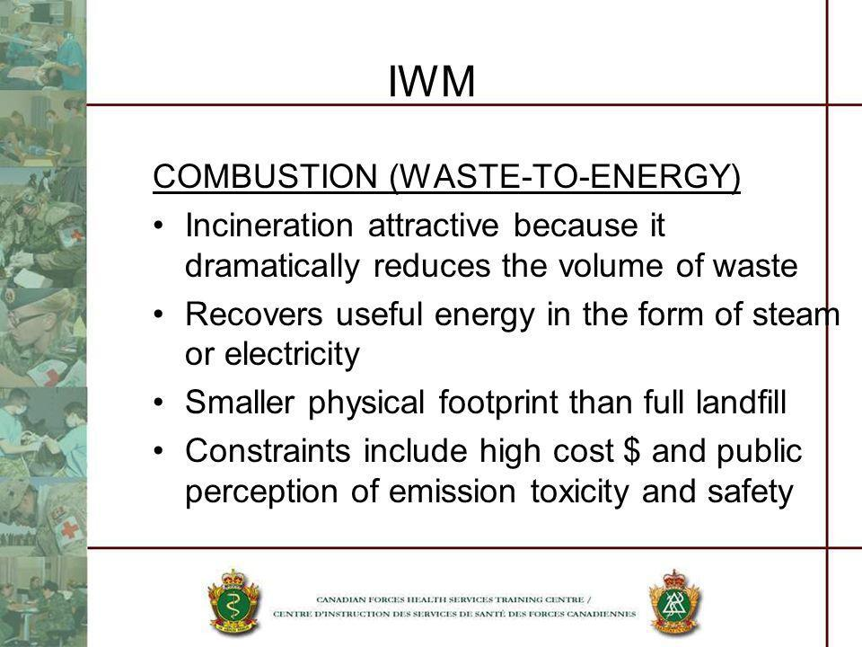 IWM COMBUSTION (WASTE-TO-ENERGY)