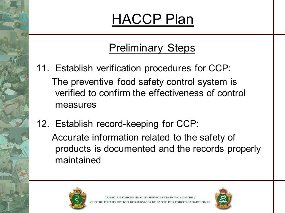 HACCP Plan Preliminary Steps