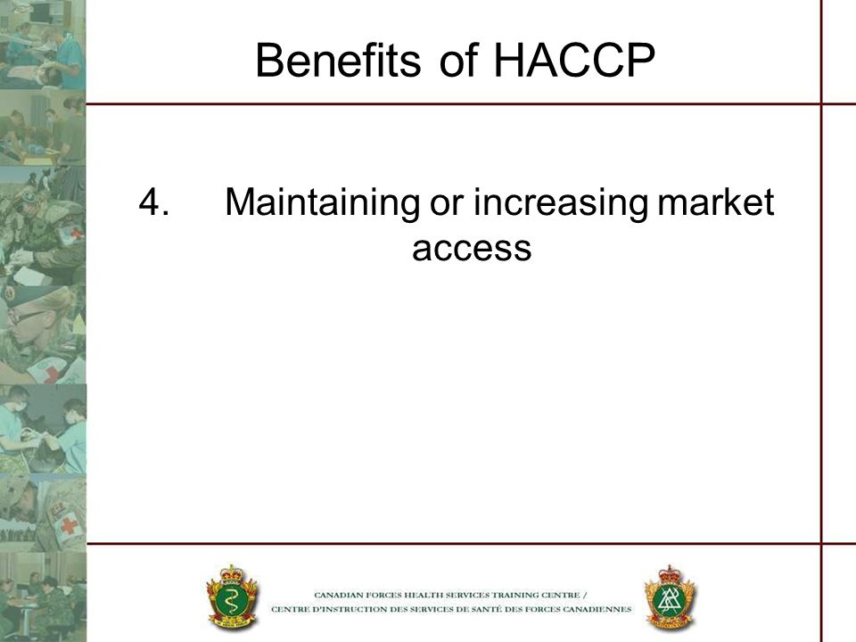 4. Maintaining or increasing market access