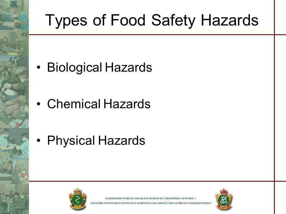 Types of Food Safety Hazards