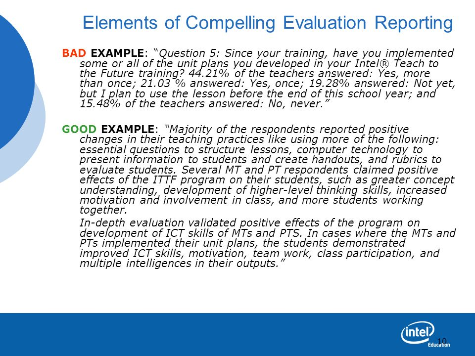 Elements of Compelling Evaluation Reporting