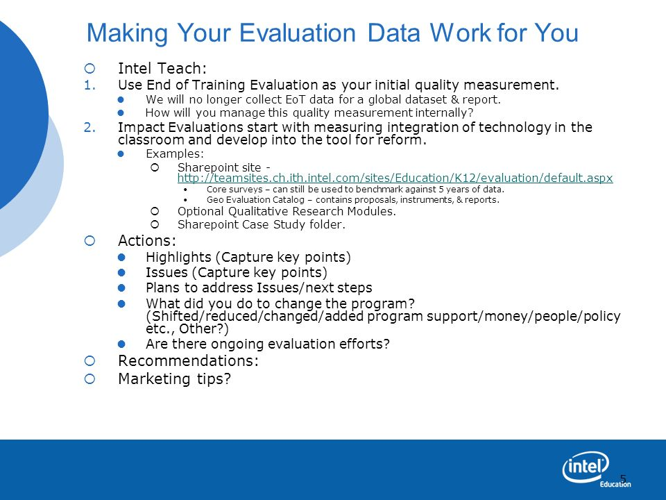 Making Your Evaluation Data Work for You