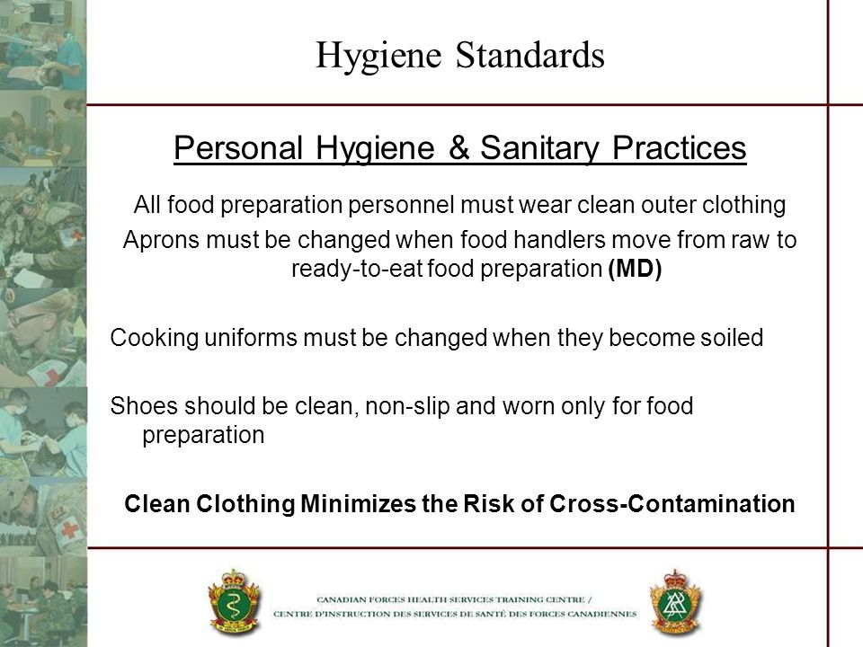 Clean Clothing Minimizes the Risk of Cross-Contamination