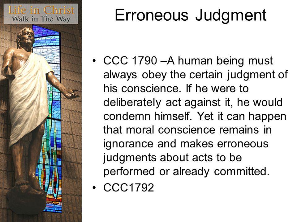 Erroneous Judgment