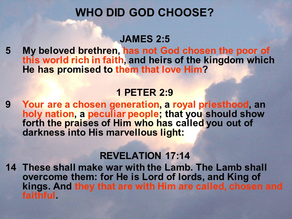 WHO DID GOD CHOOSE JAMES 2:5