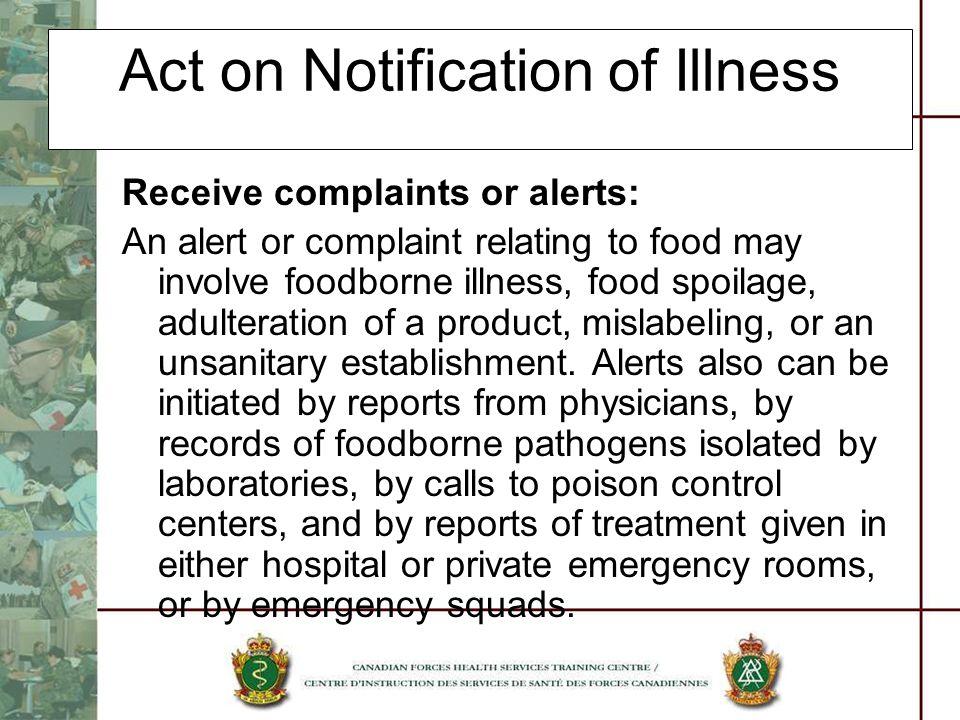 Act on Notification of Illness