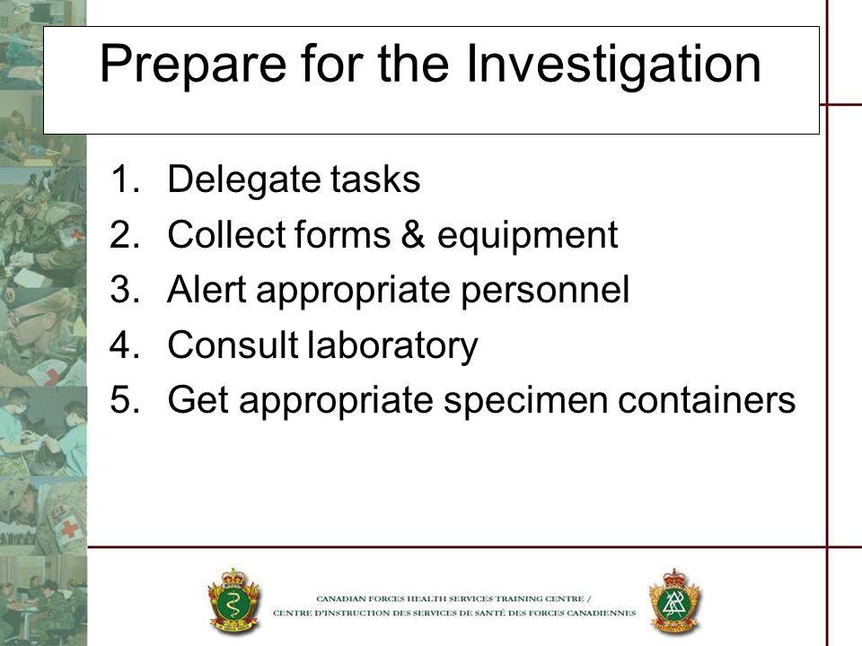 Prepare for the Investigation