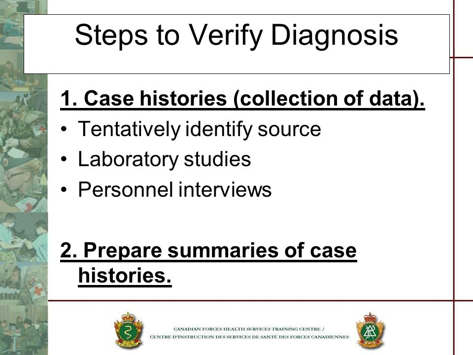 Steps to Verify Diagnosis