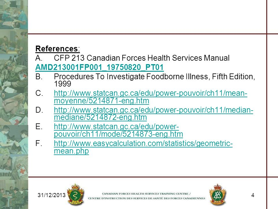 CFP 213 Canadian Forces Health Services Manual