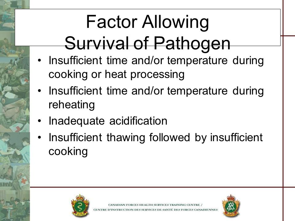 Factor Allowing Survival of Pathogen