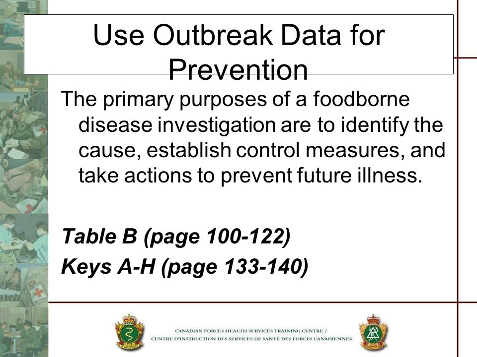 Use Outbreak Data for Prevention