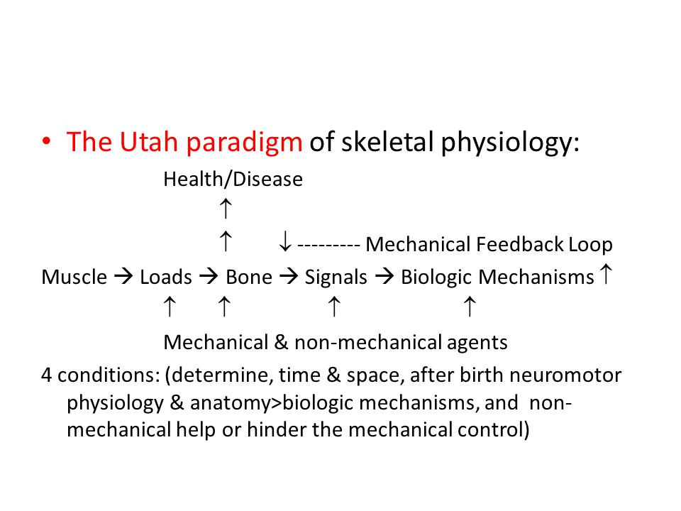The Utah paradigm of skeletal physiology: