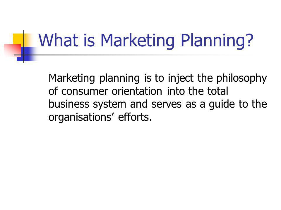 What is Marketing Planning