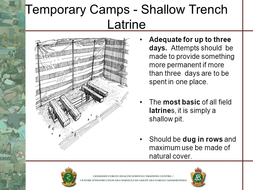 Temporary Camps - Shallow Trench Latrine