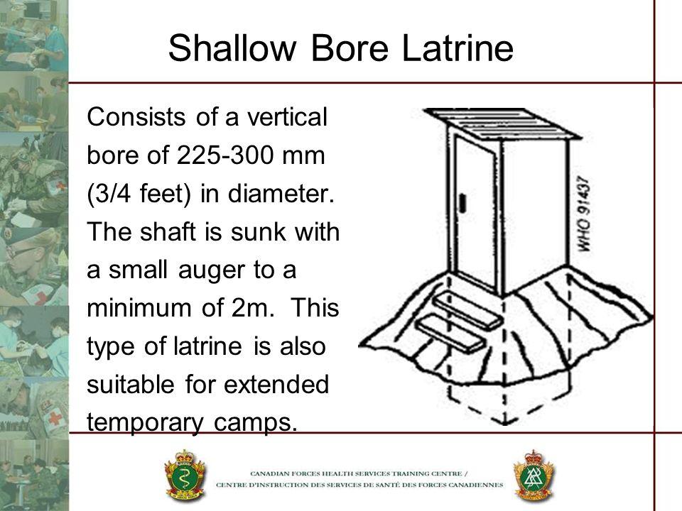 Shallow Bore Latrine