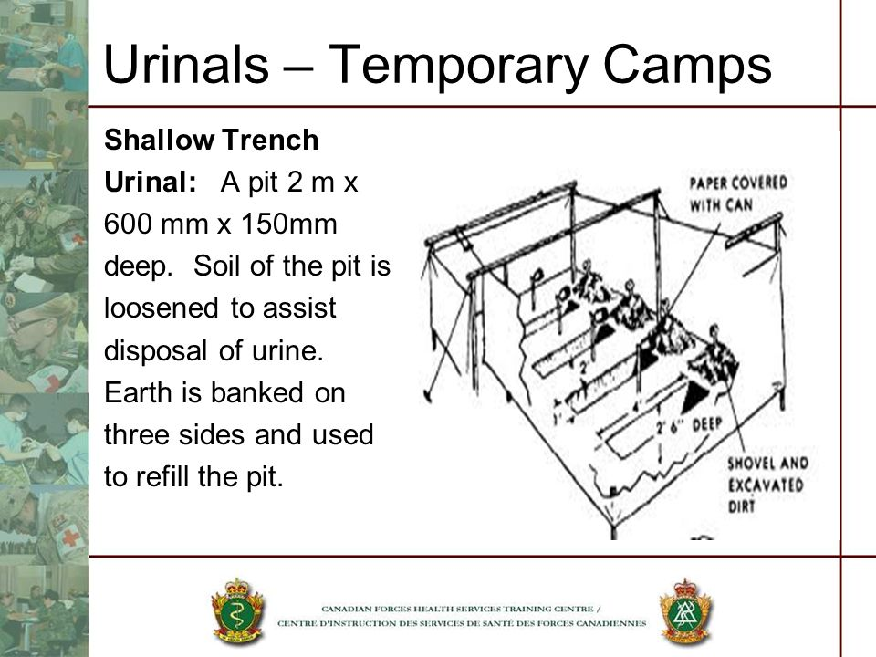 Urinals – Temporary Camps