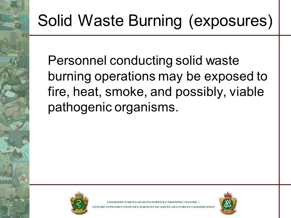 Solid Waste Burning (exposures)