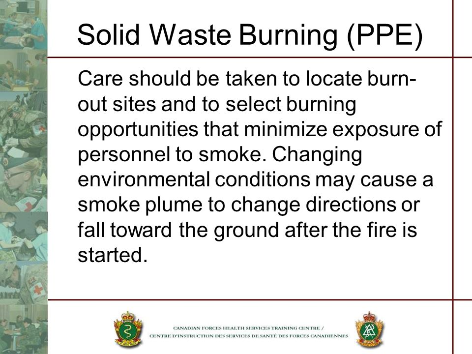 Solid Waste Burning (PPE)