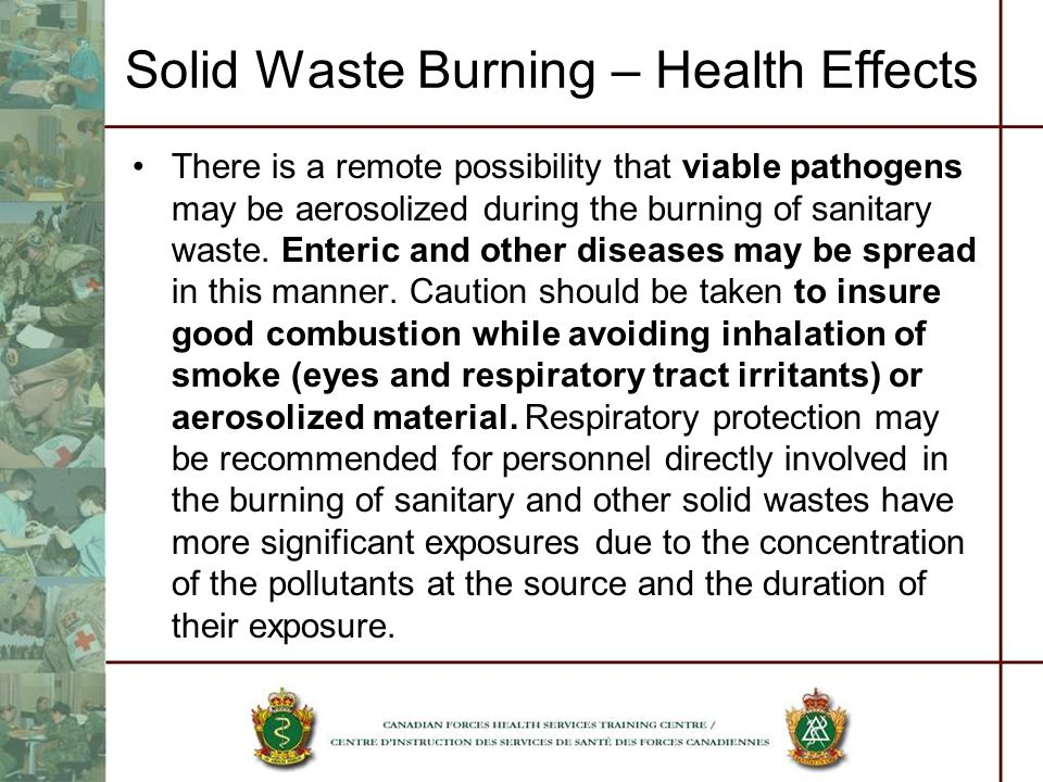 Solid Waste Burning – Health Effects