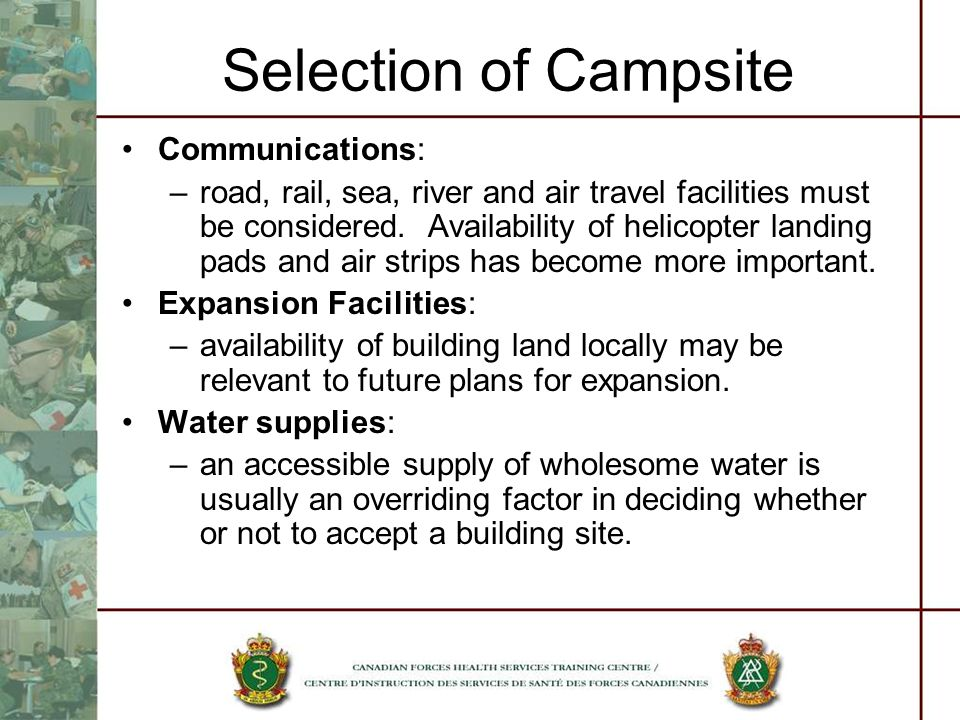 Selection of Campsite Communications: