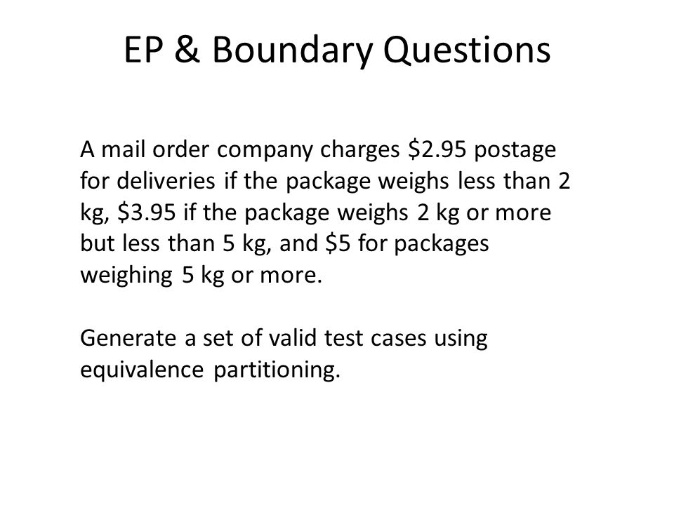 EP & Boundary Questions