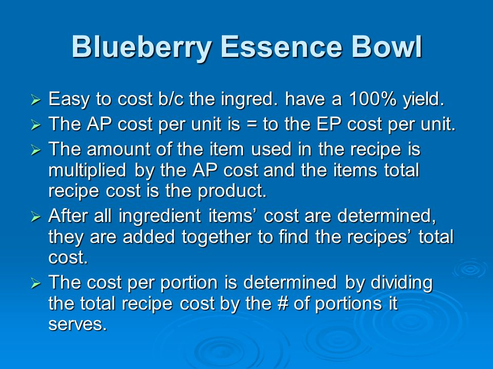 Blueberry Essence Bowl