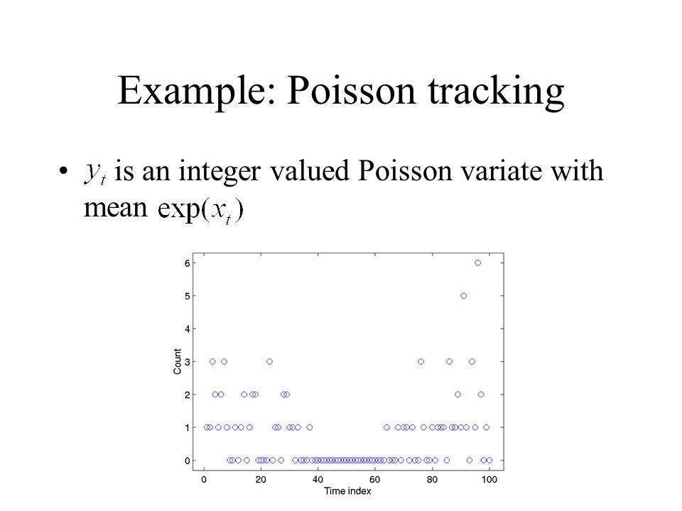 Example: Poisson tracking