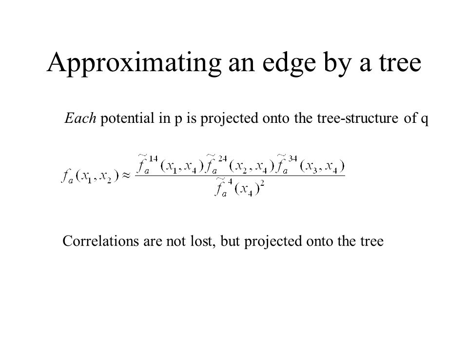 Approximating an edge by a tree