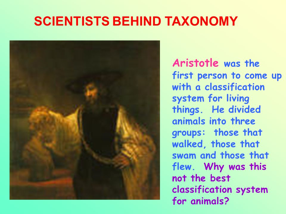 SCIENTISTS BEHIND TAXONOMY