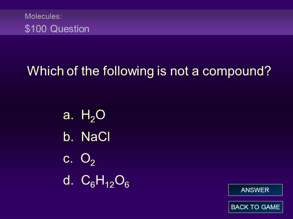 Which of the following is not a compound
