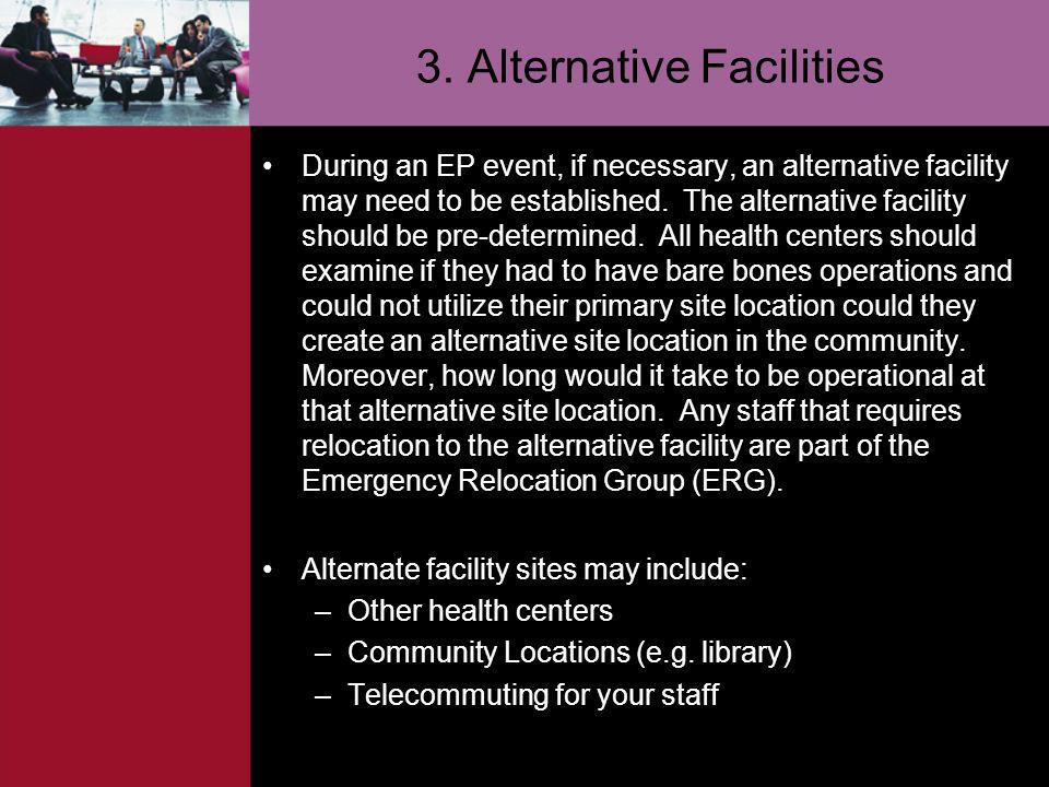 3. Alternative Facilities
