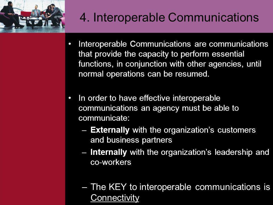 4. Interoperable Communications