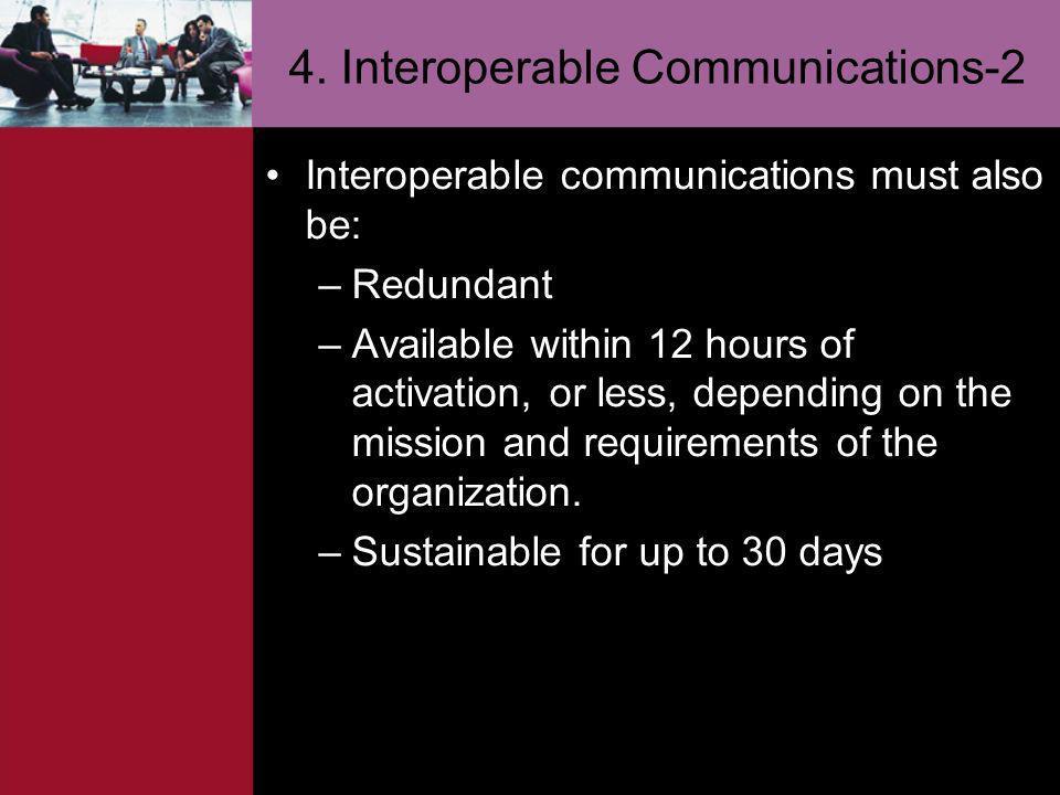 4. Interoperable Communications-2
