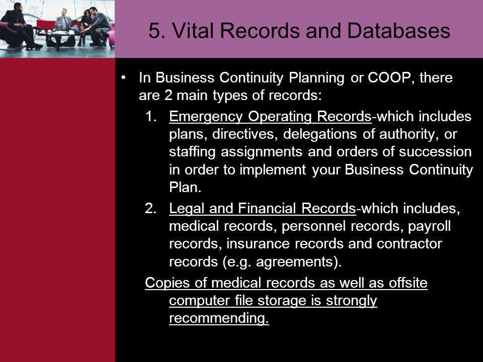 5. Vital Records and Databases