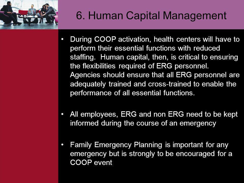 6. Human Capital Management